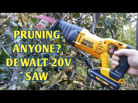 Dewalt 20v max reciprocating saw pruning limbs!