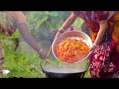 गाजर का हलवा Recipe -10 KG GAJAR KA HALWA Recipe - Easy Indian Dessert(HINDI)