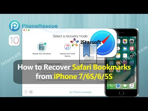 How to Recover Safari Bookmarks from iPhone 7/6S/6/5S with iOS 10