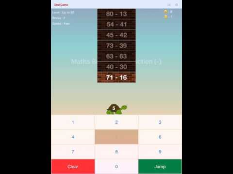 Maths Bricks - Subtraction App Preview