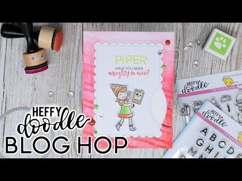 Naughty or Nice Spinner card - Heffy Doodle BLOG HOP