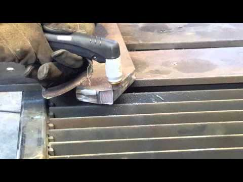Plasma cutting 1 inch thick steel