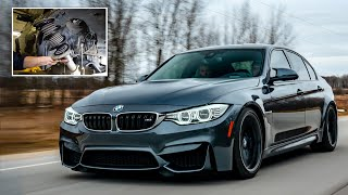 THE BEST WAY TO LOWER YOUR BMW M3 or M4 ON A BUDGET! (DIY)