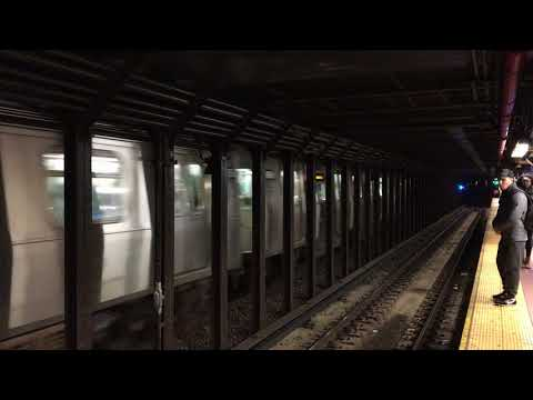 Three trains at 8th St/NYU