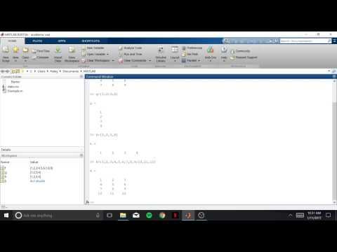 Assigning a Matrix in Matlab
