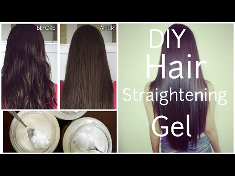 Homemade Hair Straightening Gel with all Natural Ingredients | Silk & Shiny Hair