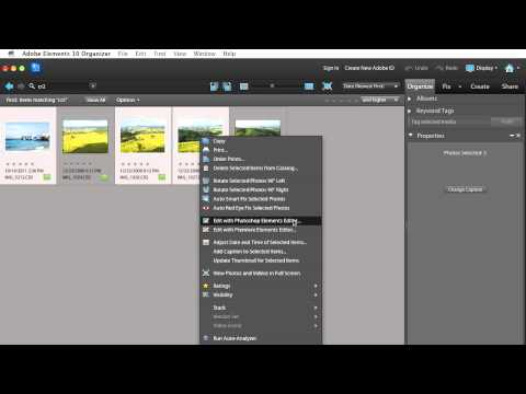 Opening Multiple RAW Files Simultaneously in Photoshop Elements 10