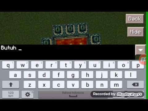 How to making End portal in Minecraft pe 0.11.1