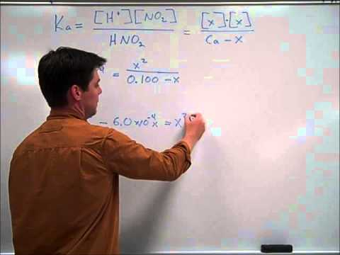 Using a Ka Value to Determine the pH of a Weak Acid - Mr Pauller
