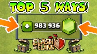 TOP 5 WAYS TO GET FREE GEMS IN CLASH OF CLANS LEGALLY (NO HACKS)! | 5 AWESOME STRATEGIES!!