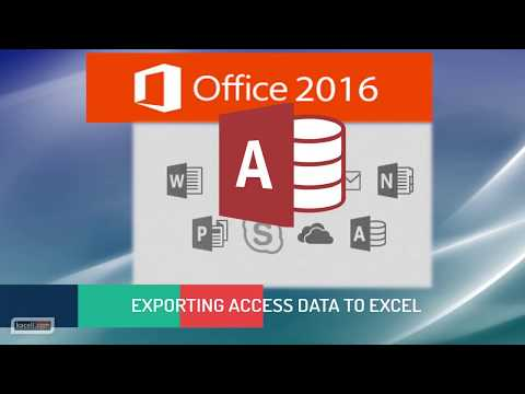 Exporting Tables, Queries and Reports from Access to Excel in Access 2016
