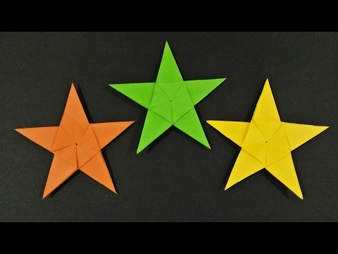 How to make origami: 5 pointed star