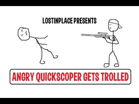 Angry QuickScoper Gets Trolled (MW3 Trolling/Griefing)