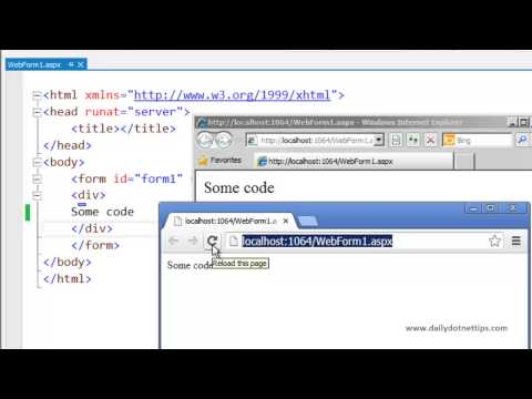 Tip 2 :- Refresh Browser from Visual studio 2013 ( Tips and tricks)