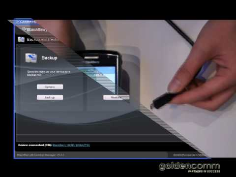 Blackberry Back up and Restore: Training Video