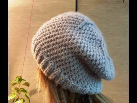 How to Knit a Slouchy Beanie Hat? (Long Version with Details)