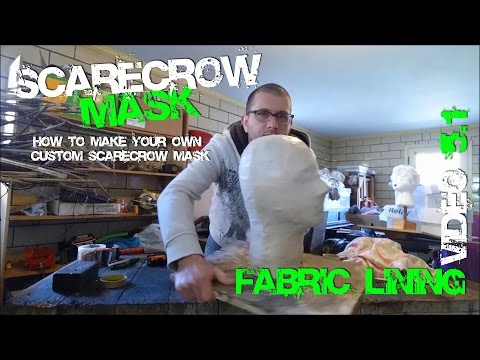 5.1 How to Make Fabric Lining HACK for your Custom Scarecrow Mask