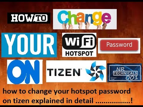 How to change your hotspot passward on ssmsung z2