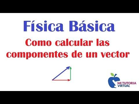 Calculo Componentes Rectangulares de un Vector - Concepto Básico