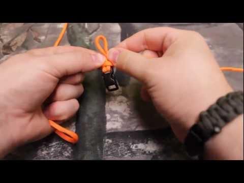 Paracord Sinnet Knot tutorial.