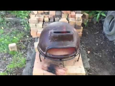 New wood fired clay pizza oven