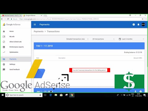 Google AdSense - (You don't have any transactions for this billing period) | Payment On Hold