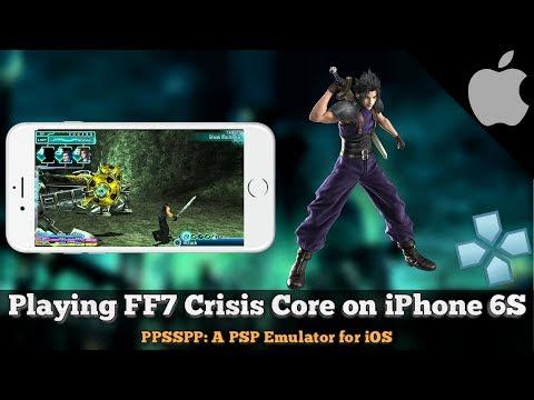 Final Fantasy 7 Crisis Core on iPhone 6S | PPSSPP 1.5.4 PSP Emulator