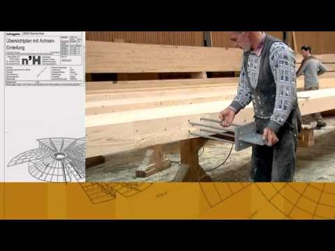 Glulam structures production by Neue Holzbau _ cocolee.flv