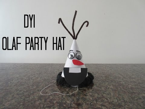 DYI Olaf Party Hat  Lunababyvlogs