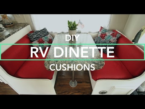 Making Custom RV Cushions + Curtains for Our RV Remodel
