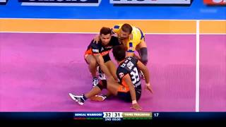 Tamil Thalaivas   Kabaddi   Ajay Thakur winning moment vs Bengal Warriors