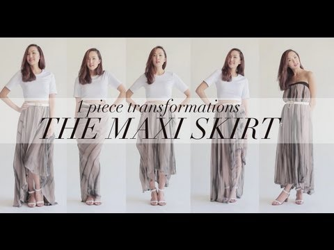 5 Ways to Wear The Maxi Skirt | Transformation