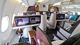 Qatar Airways FIRST CLASS Review from Cairo to Doha   Airbus A330-200