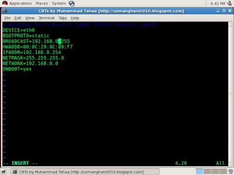 01- Configure IP address of Linux Machine http://stshare.net