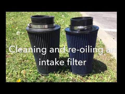 Cleaning + reoiling an intake filter