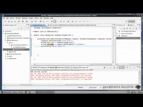 JSPs and Servlets Tutorial 05 - The POST Method and Passing Parameters