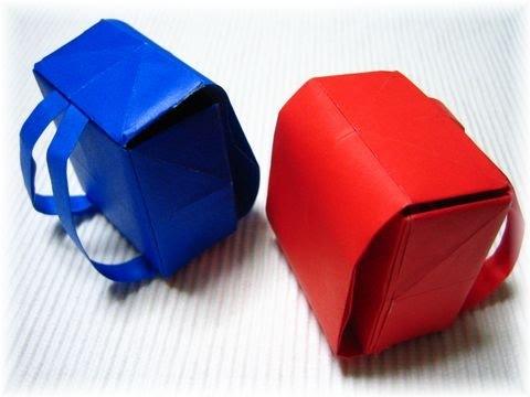 Easy Origami   Schoolbag Origami   Origami Tutorial
