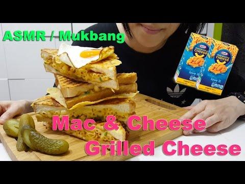 BEST Mac & Cheese Grilled Cheese | 烤芝士通粉三文治 : ASMR / Mukbang ( Cooking & Eating Sounds )