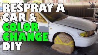 Respray a car and color change DIY