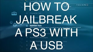 How To Jailbreak Your Ps3 With A Usb On 480 Bo2 Mod Menus No Jailbrea