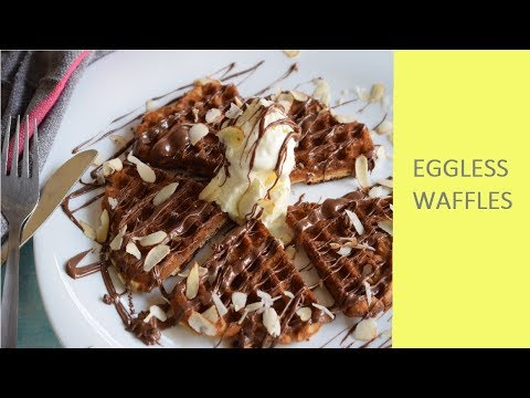 Waffles - Eggless, Easy and homemade|waffle recipe from scratch | no premix [2018]