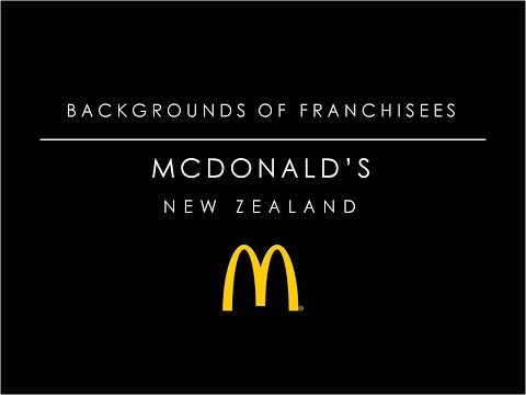 Backgrounds of McDonald's franchisees in NZ