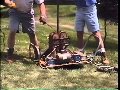 Pul-A-Pump machine pulling water well pumps