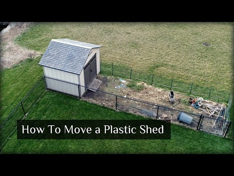 How To Move a Vinyl or Plastic Shed - New Shed Project Update 3