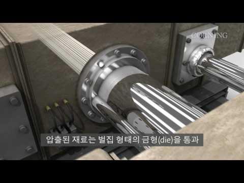 코닝의 압출 제조 공정