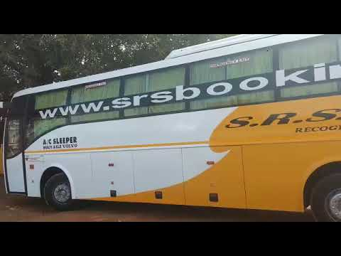 SRS TRAVELS VOLVO B9R SLEEPER AT PONDICHERRY RTO