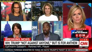 """WH: TRUMP """"Not Against Anyone,"""" But Is For Anthem CNN Breaking News"""