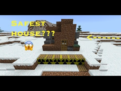 Safest MCPE House??? [My First Map]