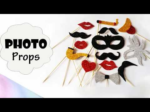 party props at home | DIY photobooth props idea | art and makeover