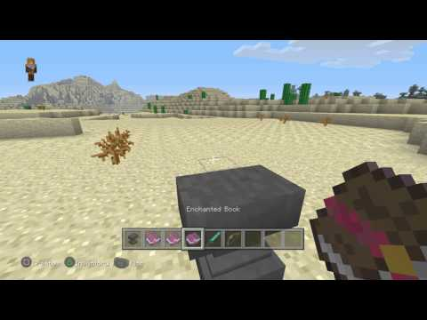 FoxPandaTV Minecraft - how to create a fire sword and bow with a anvil #2